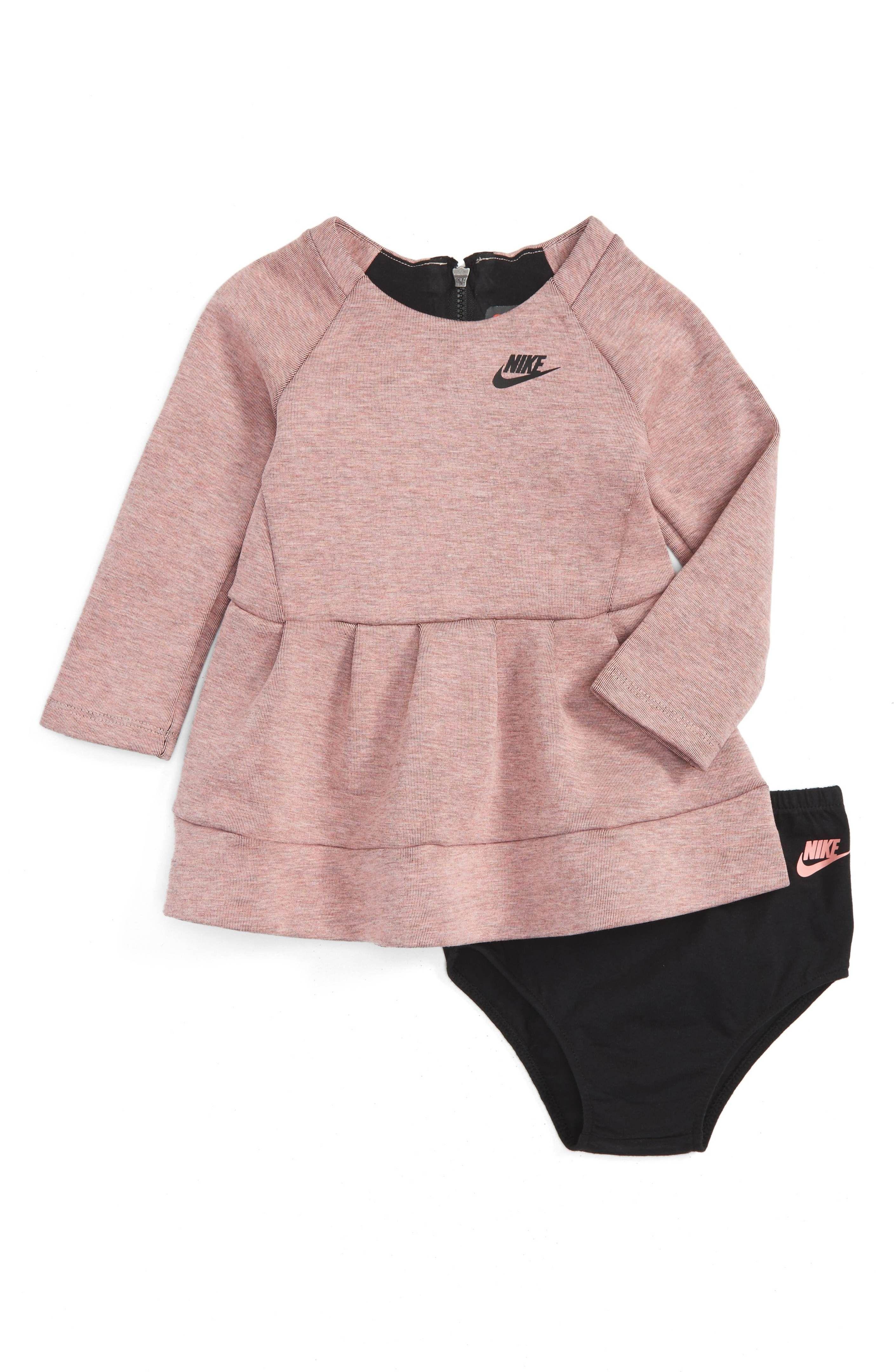 Main Image - Nike Tech Pack Fleece Dress (Baby Girls)