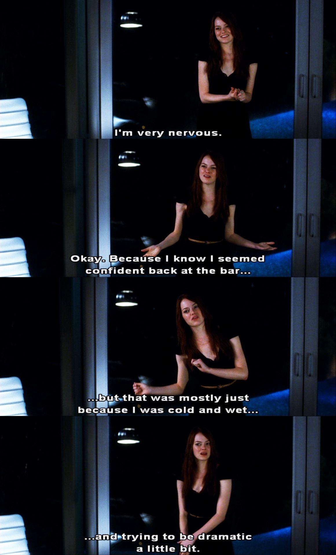 I M Very Nervous Crazy Stupid Love 2011 Movie Quotes