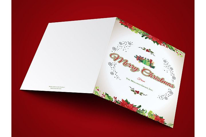Vintage Christmas Greeting Card Template from DesignBundlesnet - greeting card template