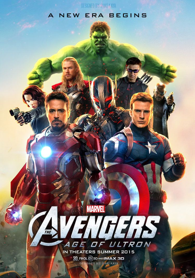 Poster the avengers super heros the age of ultron art