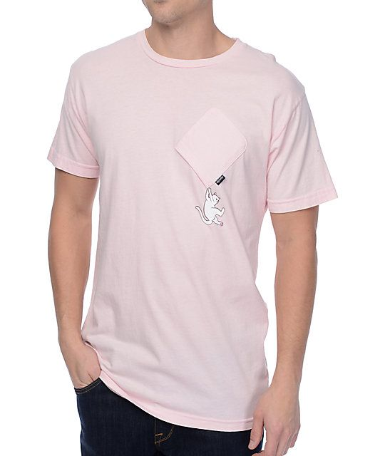 2c9f1d68ec Sometimes life turns upside down but the Hang In There pink pocket t-shirt  from RipNDip is to remind you to see the humor in it with an eye-catching  pink ...