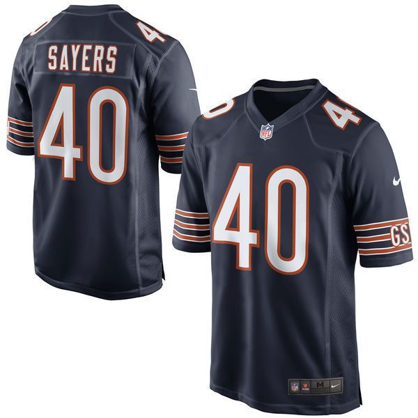 3745e8ad1 MEN S NIKE CHICAGO BEARS GALE SAYERS  40 GAME JERSEY NAVY 468947-475 LARGE