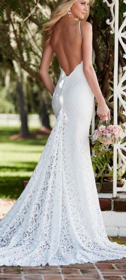 Wedding Dresses Lace Open Back Bouquets 68 New Ideas Wedding