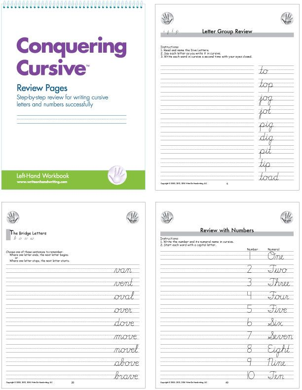Review Pages For LeftHanders Student Practices Writing Letters