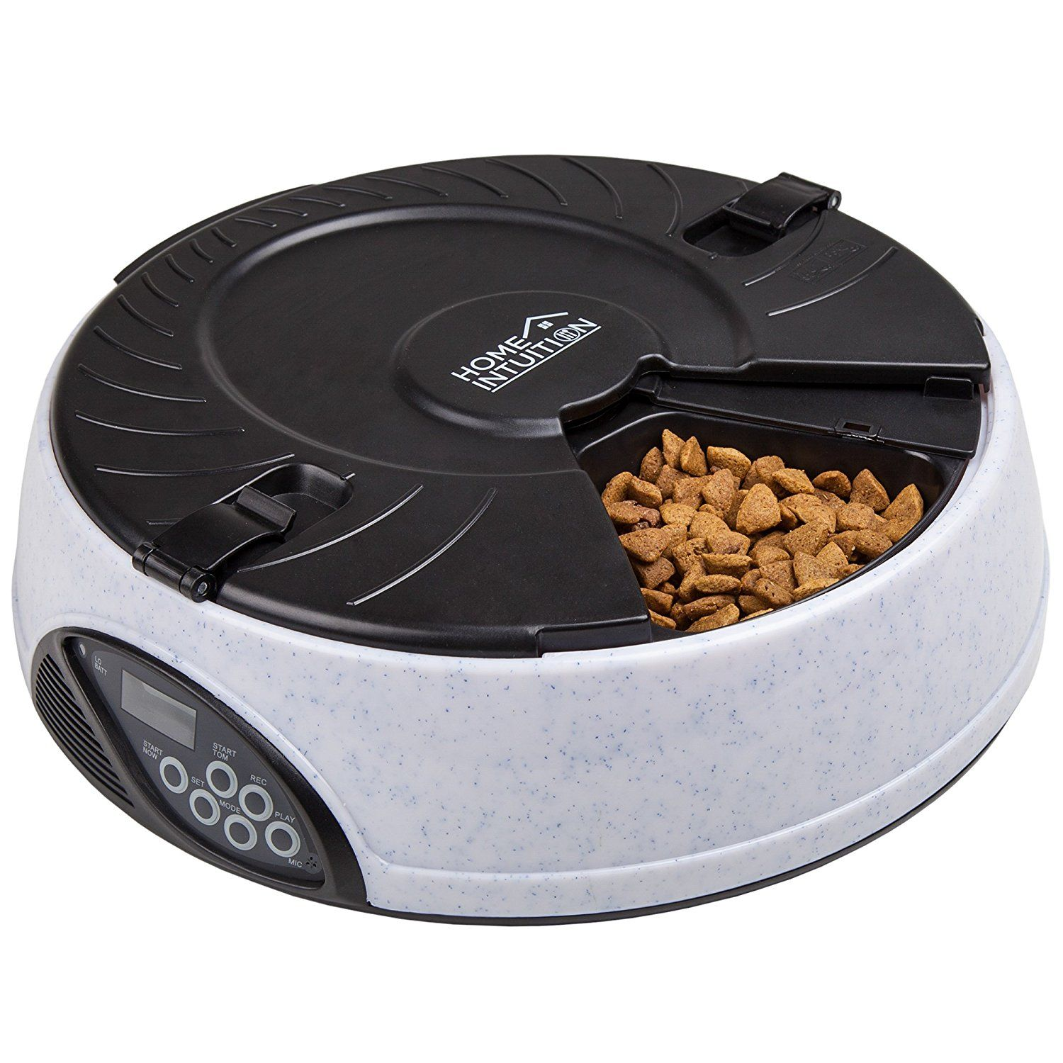 Home Intuition Portion Control 6Meal Automatic Pet Feeder
