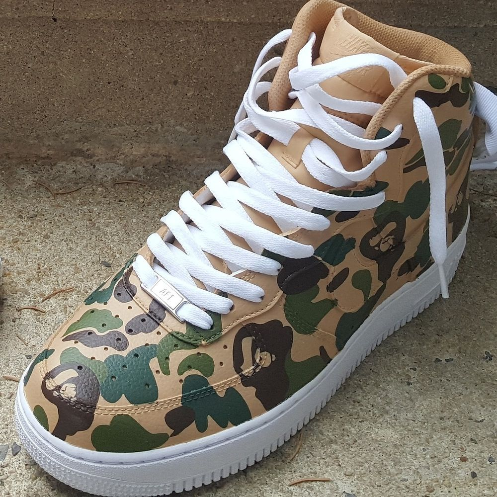 "official photos c8680 8b156 nike air force 1 bape   Air Force 1 High ""Bape Camo"" By  IanBOSSJimenez    Kicksaddict"
