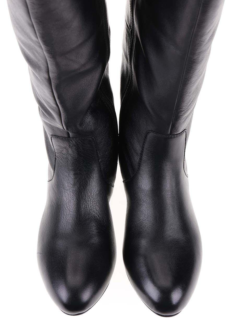 9a7eb399b9ec Čierne kožené čižmy s prackou ALDO Becki
