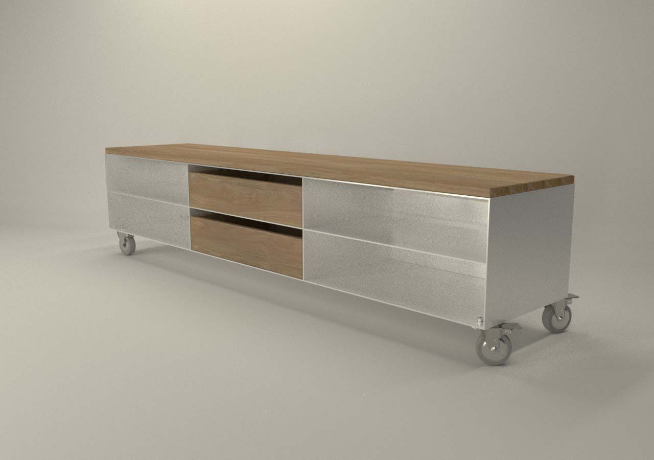design metallmoebel tv sideboard mehrzweck kaminholz aufbewahru stahlm bel metallm bel. Black Bedroom Furniture Sets. Home Design Ideas