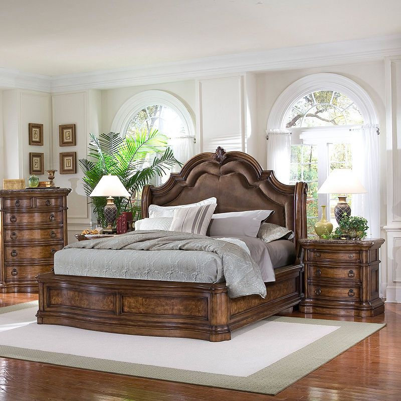 San Mateo Sleigh Bedroom Set From Pulaski 662170 662171: Sleigh Beds, Bed, Bed Furniture