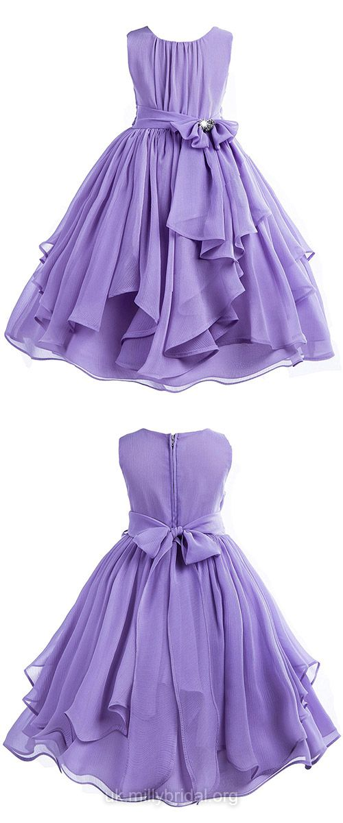 Country Flower Girl Dresses Purple, Vintage Flower Girl Dresses ...