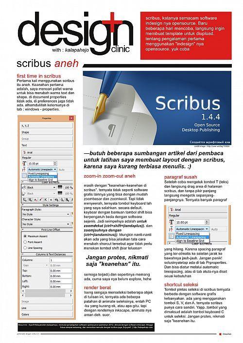 Tutorial Dan Template Scribus Cover Majalahg Layout Pinterest