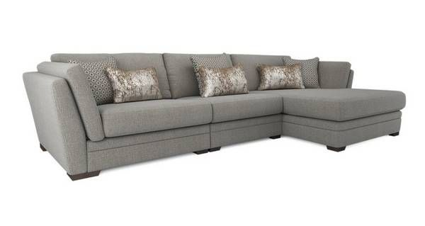 large chaise sofa dfs tall thin table long beach right hand facing livingroom in