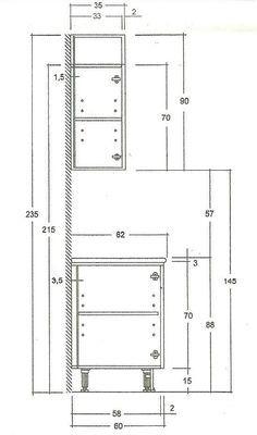 Las Medidas de los Muebles de Cocina | Muebles de cocina, Cocinas y ...