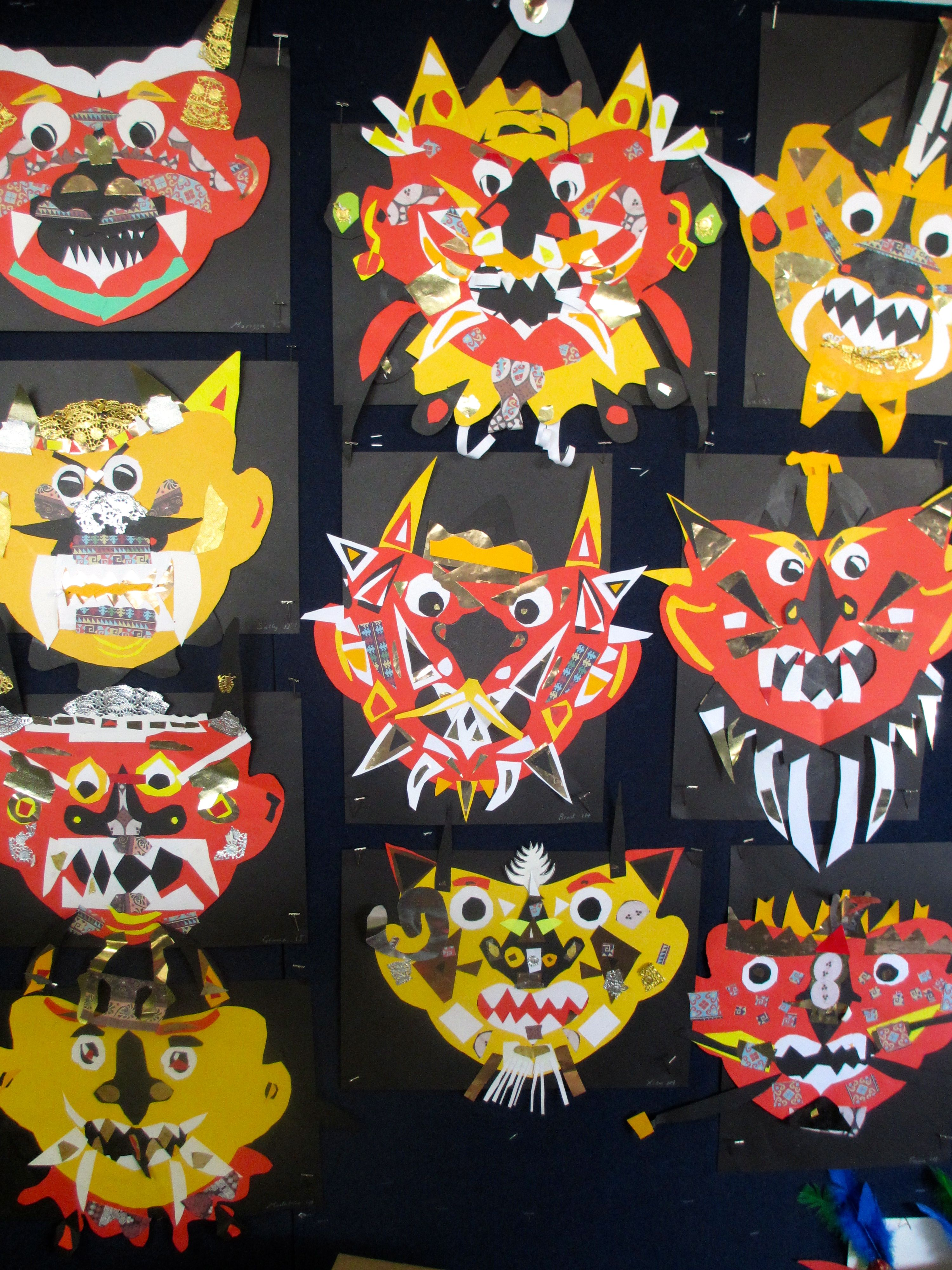 Indonesian Barong Masks Yr 1 Indonesian art, Art