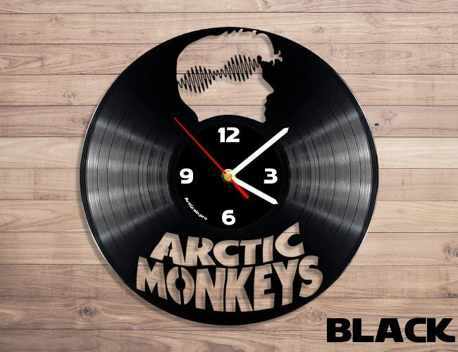 Arctic Monkeys Wall Clock From Vinyl Record Rock Band Art Modern Minimalistic Clock For Your Interior Arctic Monkeys Monkey Wall Clock