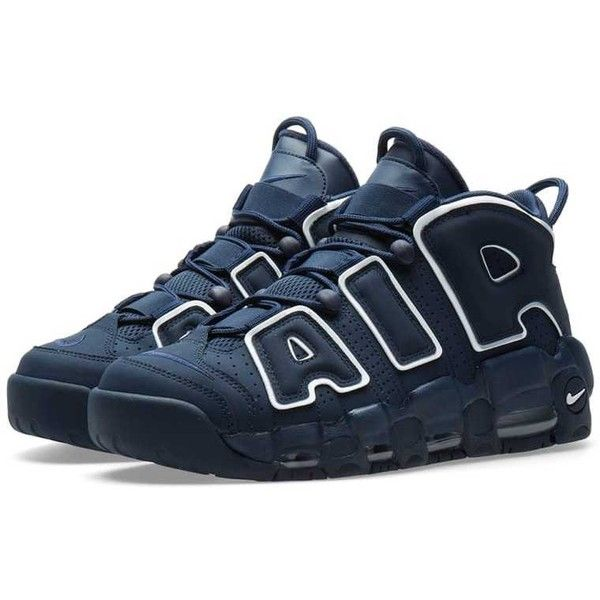 Nike Air More Uptempo 96 Obsidian, White & Gum Mens Shoes