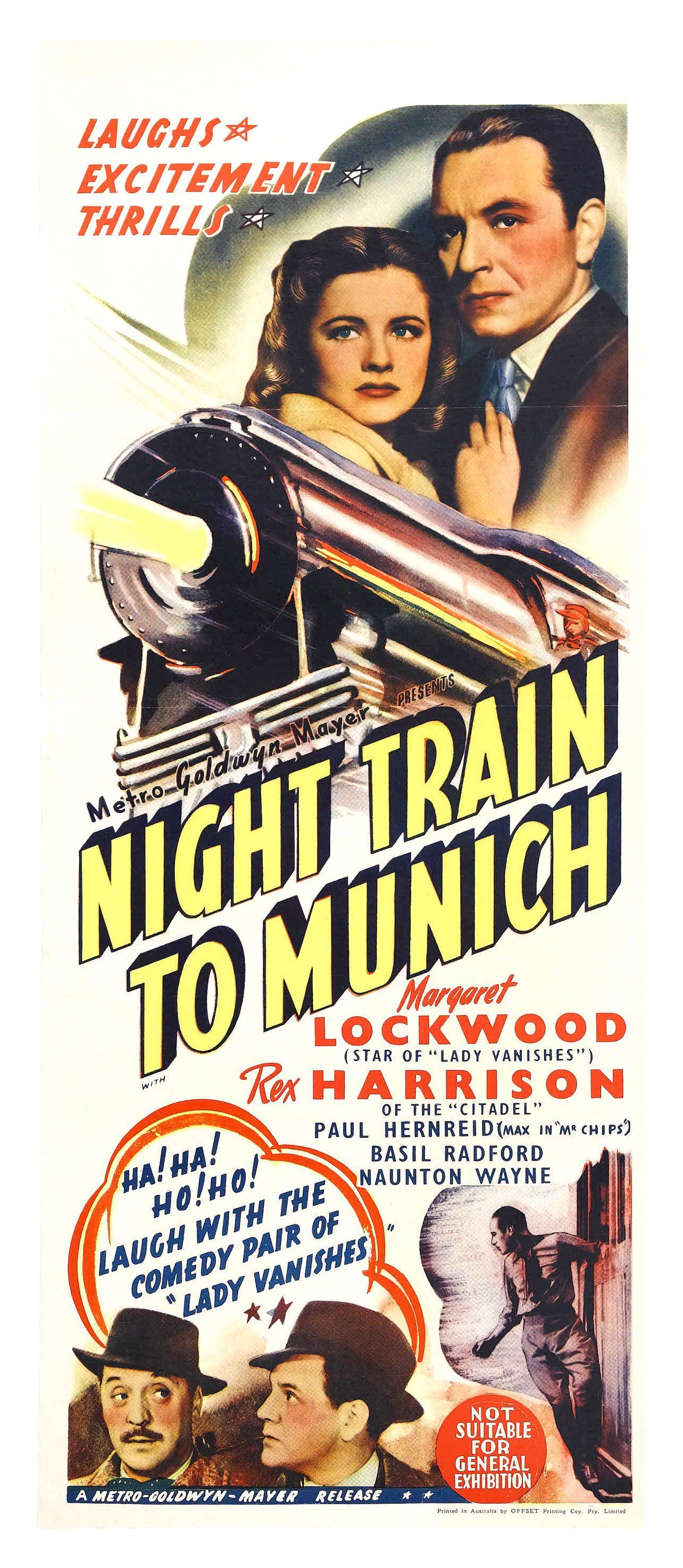 Night Train to Munich (1940) Australian daybill poster