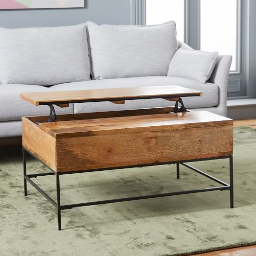 Emmerson Reclaimed Wood Coffee Table Industrial Storage - West elm emmerson reclaimed wood coffee table