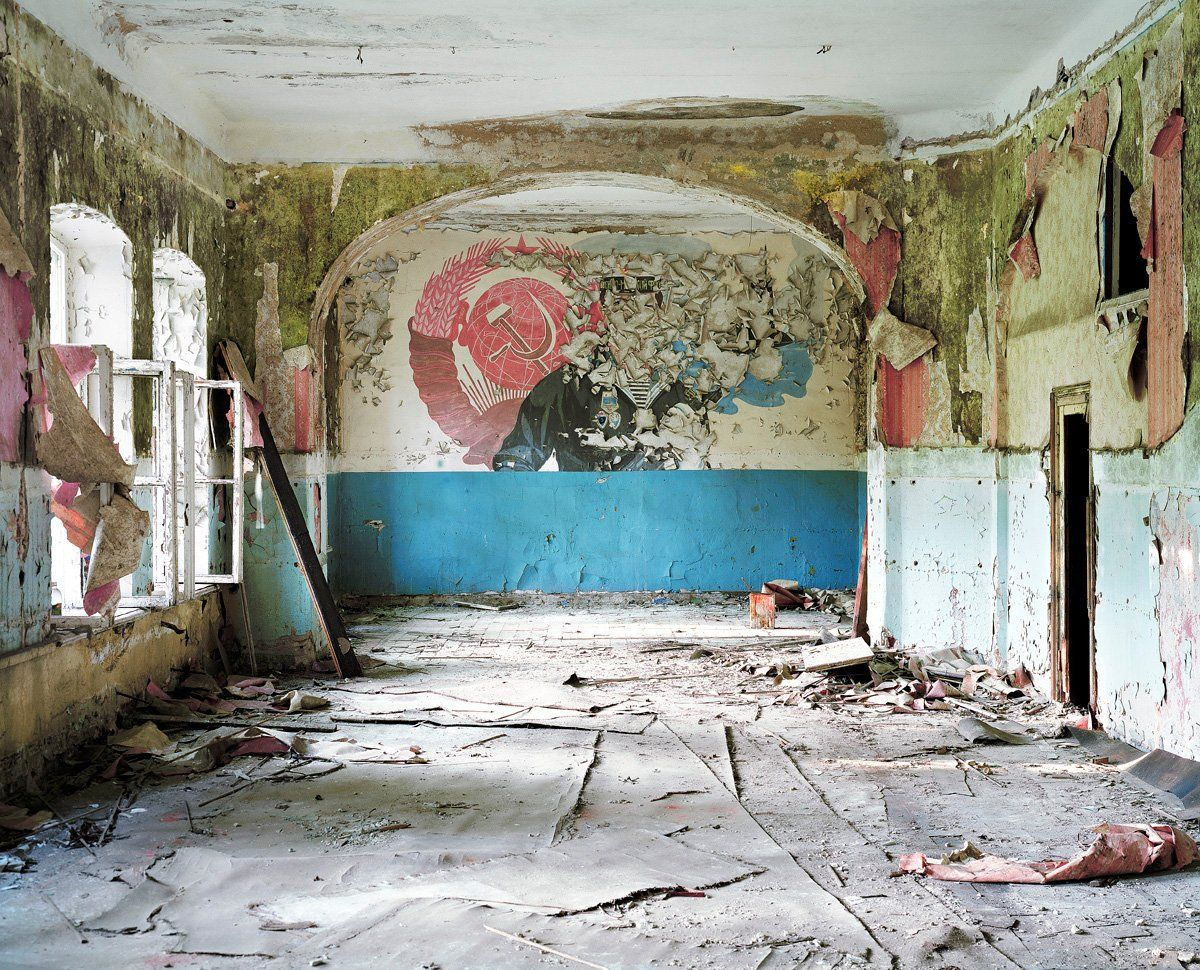 """129TH INDEPENDENT DETECTION CENTER, LATVIA -  This base in Latvia, which once housed much of the USSR's Baltic Fleet, now stands dormant. Lusito tell us that some of the bases """"were under surveillance while others were poorly guarded."""" Some have been looted."""