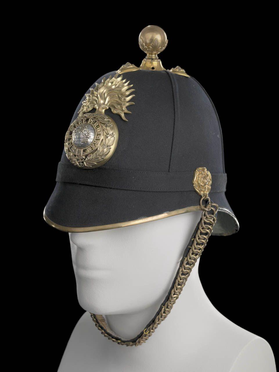 bfef73f1ba93c Pith Helmet · Royal Marine Artillery uniform  pattern 1878. British Royal  Marines