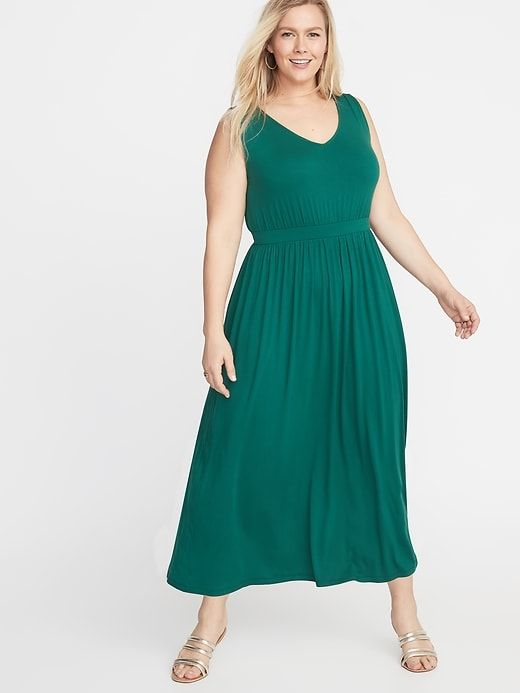 Waist-Defined Plus-Size Jersey Maxi in 2019 | Products | Plus size ...