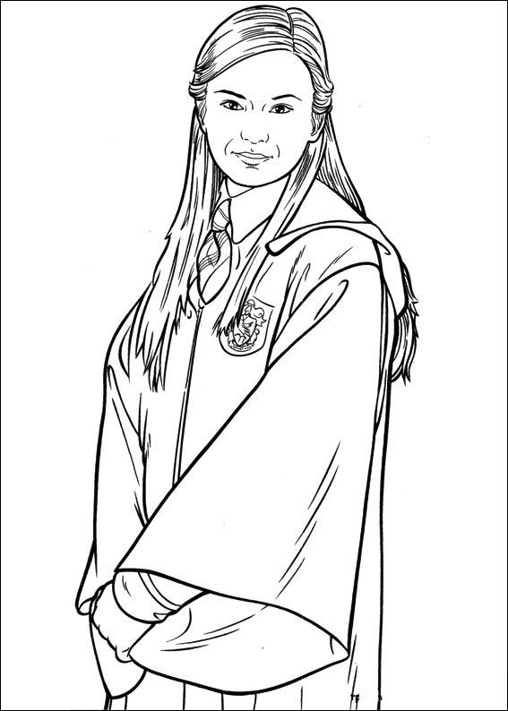 Mother Harry Potter Harry Potter Coloring Pages Pinterest - Ginny-weasley-coloring-pages