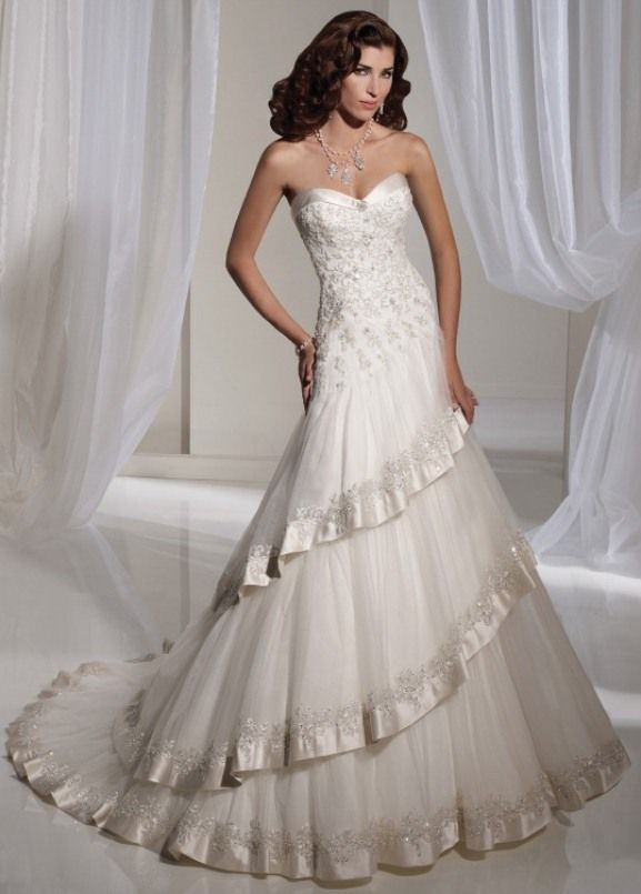 Silver Wedding Dresses | white and silver wedding theme _ luxury ...