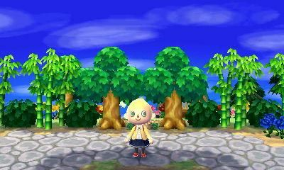 Planting Bamboo Next To The Plaza And To Trees Animal Crossing Bamboo Plants Acnl