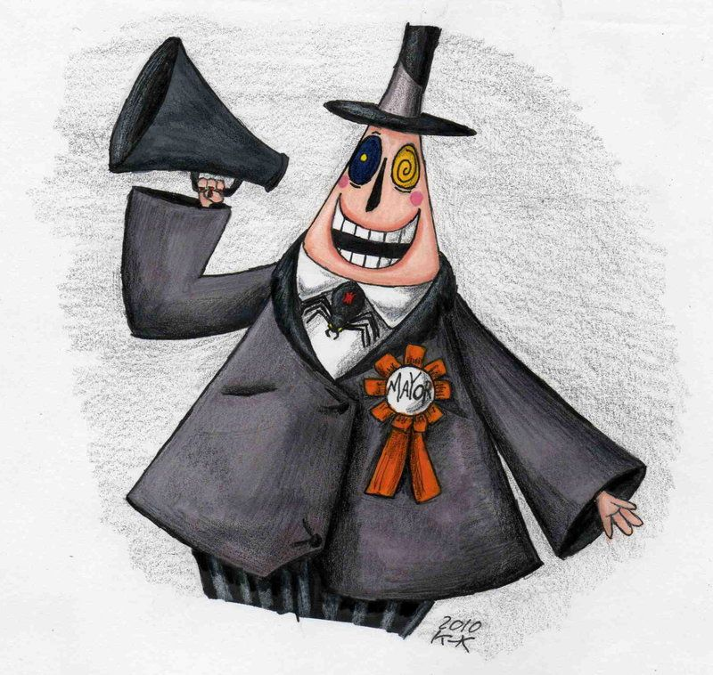 Tim Burton/'s Nightmare before christmas mayor decal