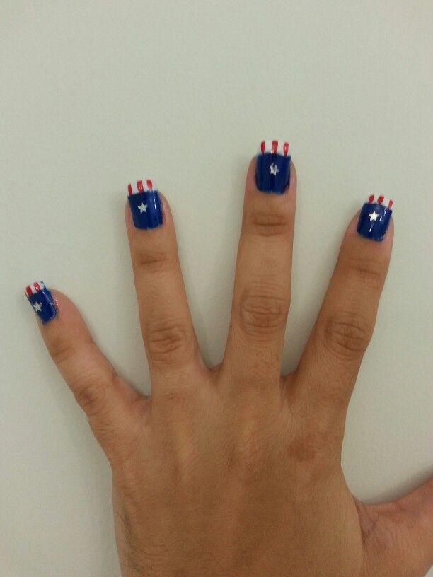 Uñas capitan america   Uñas   Pinterest   Capitán américa y América