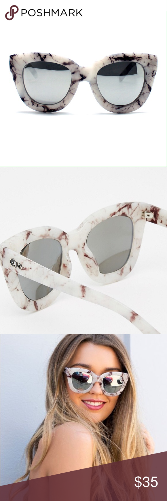 8371744144 Quay sugar and spice marble cat eye sunglasses In near perfect condition
