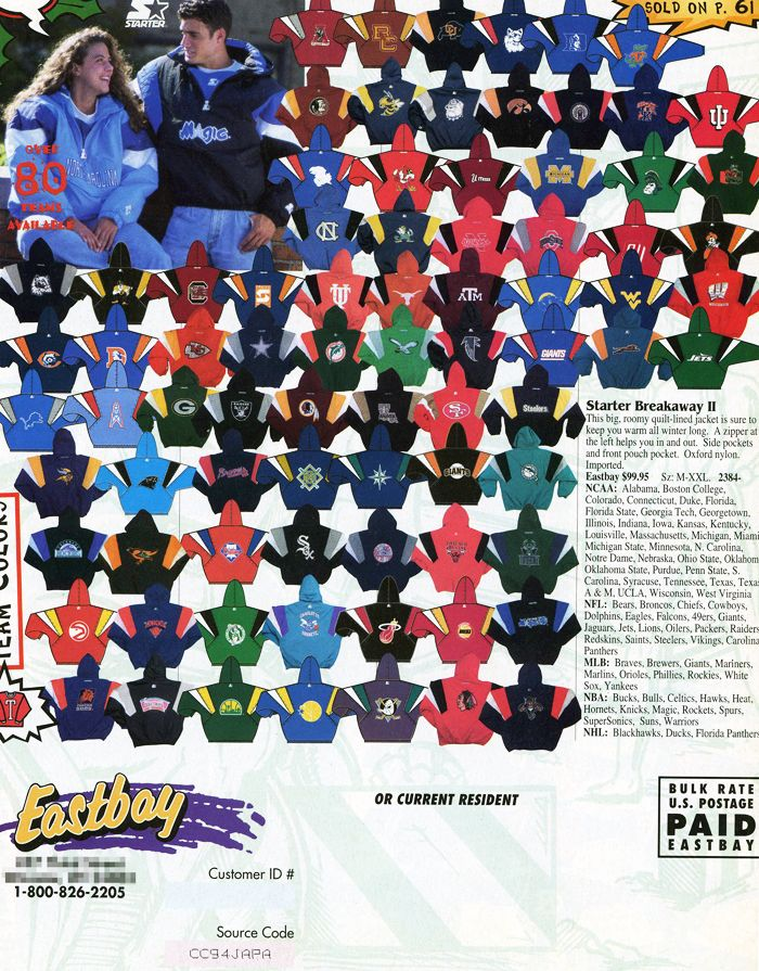 94c11378f Eastbay Catalogs and Starter Jackets