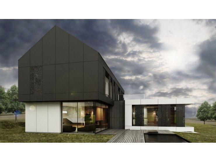 Avantgarde 04d - #Einfamilienhaus von BlackLine | HausXXL ...