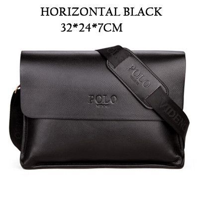 HOT SALE 2015 New men's shoulder bags genuine leather messenger bags high quality man brand business small crossbody polo bag