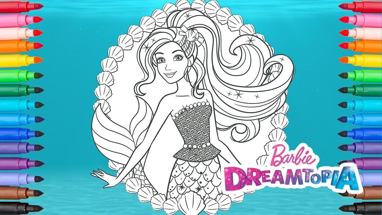Coloring Barbie Mermaid Barbie Dreamtopia Coloring Pages Coloring Pages Mermaid Barbie Barbie