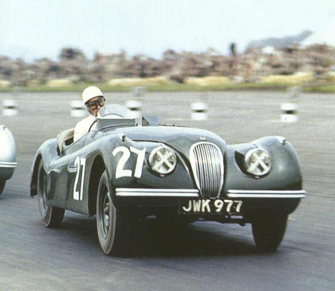 1951 Silverstone Production Car Race, Peter Walker, Jaguar XK120