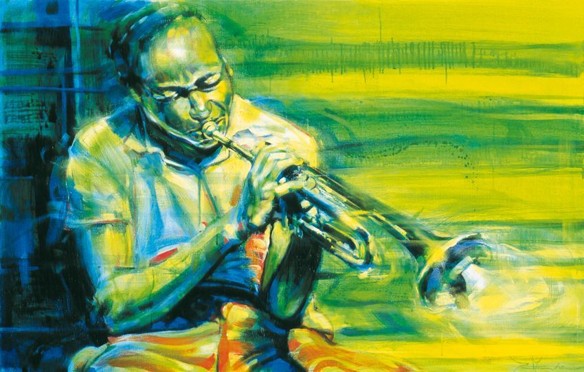 Jazz Art Paintings / Clifford Brown / Acrylics on canvas / 160x120 cm. / Sold