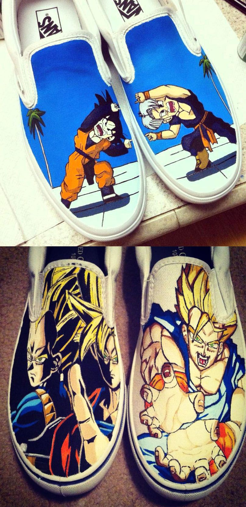 20ed143a8f0f I need the top pair of shoes with goten and trunks fusioning Dragon Ball Z