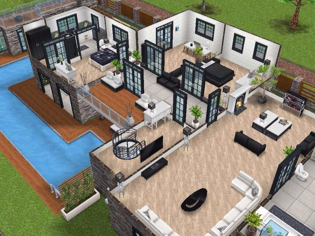 House 77 Level 2 Sims Simsfreeplay Simshousedesign Sims House Sims Freeplay Houses Sims Building