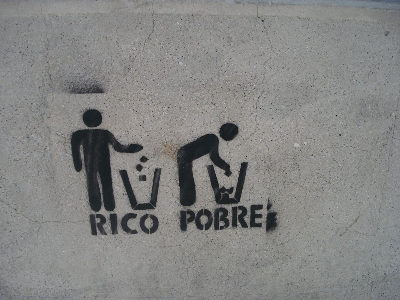"""RICH / POOR"" found in Santiago, Chile"