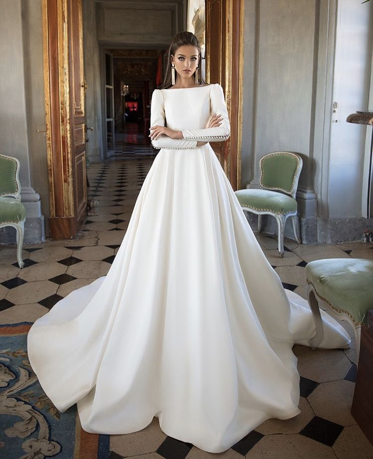 2018 Milla Nova Simple Satin Wedding Dresses 34 Long: Pin By Alexia Noble On Weddings And Other Celebrations