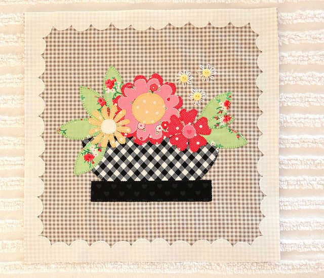quiltmaker1 by PamKittyMorning - new block. I love the black basket.