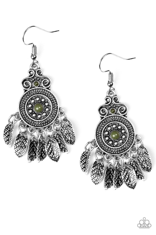 4c5ae9eed Lower East Wildside Green Earrings | Paparazzi Accessories | $5.00 ...