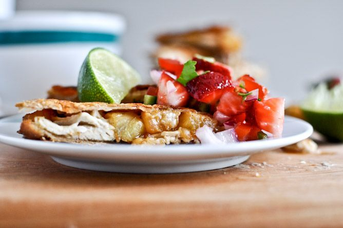 pineapple quesadillas