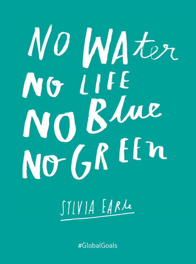 Water Is Life Quote Awesome Life Below Water Sylvia Earle Quote  Global Goals Quotes
