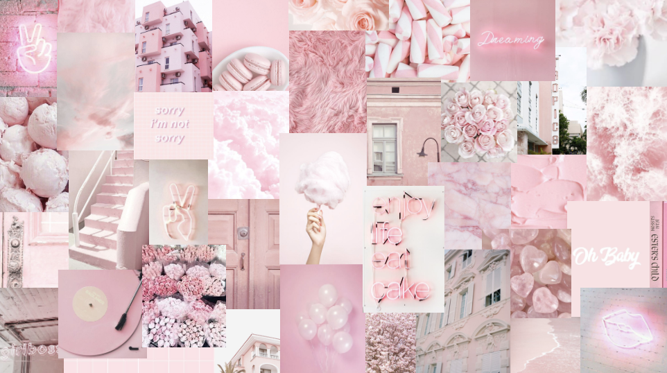 baby pink alannahg03 in 2020 Cute flower wallpapers