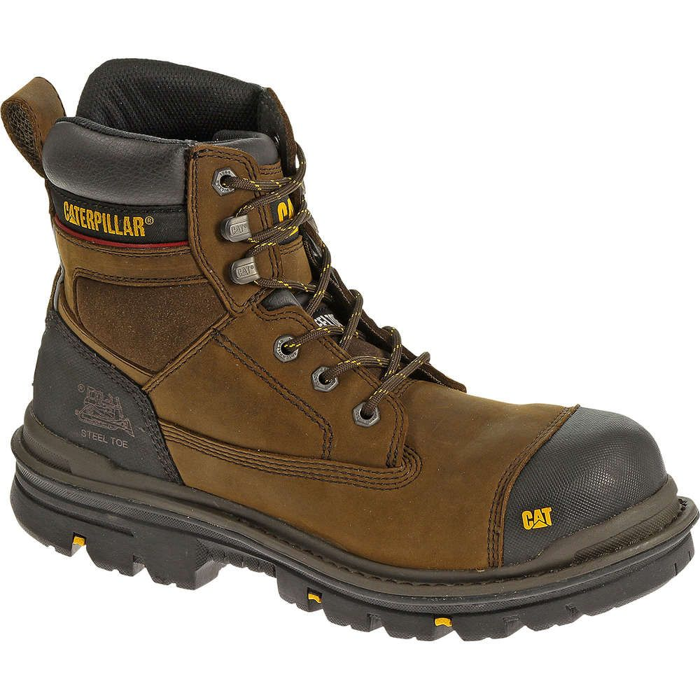 Cat Gravel Safety Boot Brown Composite Toe Work Boots Steel Toe Work Boots Boots