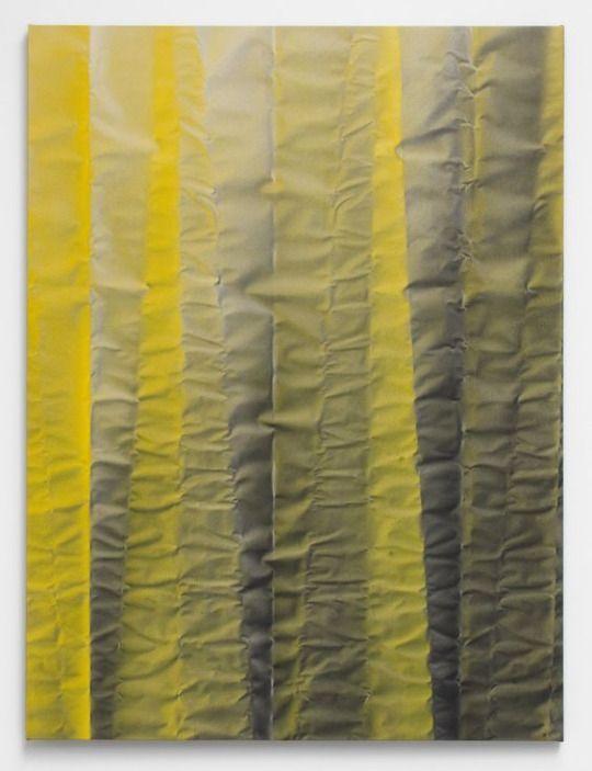 Tauba Auerbach - Untitled (Fold), 2012, Acrylic on canvas