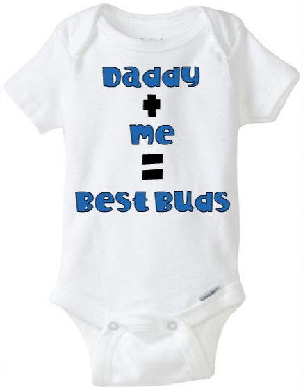 Show off your Father Son bond with this adorable baby onesie! Perfect for Father's Day!