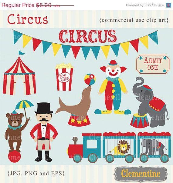 circus train graphics | 40% OFF SALE - Circus clip art images, circus clipart, circus vector ...
